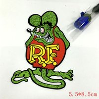 """Wholesale Hot Rod Cartoons - OFFICIALLY LICENSED ED """"BIG DADDY"""" ROTH RAT FINK CAFE RACER HOT ROD PATCH green"""