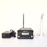 Wholesale Radio Transmitters - Original New CZE-7C 7W stereo FM transmitter broadcast radio station + PS Ant MIC kit