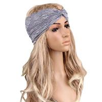 Wholesale Headscarf Styles - Wholesale- 2016 Hot yoga headbands Women Headwear Twist Sport Lace Turban Headscarf Wrap Yoga Headbands Activing Styling Accessoreis AU 11