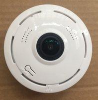 kamera sd ir ip toptan satış-2Mp 1080 P 360 ° 3D Panoramik VR P2P Kablosuz IP IR kamera tak ve çalıştır Max.128G SD