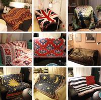 alfombra de bandera americana al por mayor-Estilo de 2,3 m * 2,5 m 15, flor de diamante, bandera estadounidense, cielo estrellado, bandera británica, nueva geometría, alfombra de manta de sofá