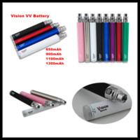 ego c twist vaporizer batterie großhandel-Vision 1 Spinner Vaporizer Batterie einstellbar VV Ego C EVOD Twist Vaporizer 650 900 1100 1300 mAh E CIGS Vaporizer Batterien