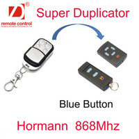 Wholesale 868mhz remote - Wholesale- Super Remote Control Transmitter Can Copy Hormann 868MHz HSM4 HSE2 rf Remote Control Blue Buttons Only Hormann Duplicator 2pcs