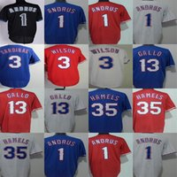 Wholesale Andrus Jersey - Cheap Mens Womens Kids Toddlers Texas 13 Joey Gallo 1 Elvis Andrus 35 Cole Hamels 3 Russell Wilson White Red Blue Baseball Jerseys