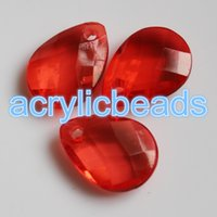 Wholesale Wholesale Briolette Bead - 50pcs Transparent Acrylic Faceted Briolette Teardrop Beads Plastic Crystal Water Drop Pendant Charm for Jewelry Curtain Garland Wedding DIY