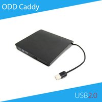 Atacado- [Free DHL] ECD819 USB 2.0 External ODD Caddy DVD RW Estojo para 12.7mm SATA Optical Drive Black Color - 100pcs