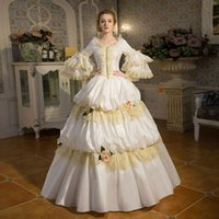 Wholesale palaces for sale - Hot Sale White Palace Rococo Baroque Marie Antoinette Party Dress 18th Century Renaissance Historical Period Ball Gown For Women