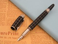 Wholesale fiber crystal - Crystal Head carbon fiber BLACK offiice new line Lacquerred Fountain Pen