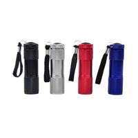 Wholesale Q8 Battery - Aluminum Alloy Portable UV Flashlight Violet Light 9 LED 30LM Torch Light Lamp Mini Flashlight 4 Color Powered by Battery 1.5V 2503029