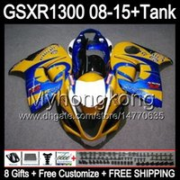 Wholesale hayabusa yellow - 8gifts CORONA yellow For SUZUKI Hayabusa GSXR1300 2008 2009 2010 2011 14MY42 GSXR-1300 GSX R1300 GSXR 1300 2012 2013 2014 2015 TOP Fairing
