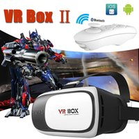 Wholesale Iphone Boxes Packages - VR Box 2.0 + Gamepad Virtual Reality 3D Glasses Helmet VR BOX Headset For Smartphone 3.5 inch ~ 6 inch iPhone Samsung with Retail Package