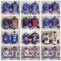 Wholesale leetch rangers jersey - New York Rangers 36 Glenn Anderson Jersey Men Hockey 2 Brian Leetch 3 James Patrick 34 John Vanbiesbrouck White Blue Vintage CCM
