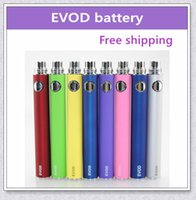 Wholesale Ego Ce5 Electronic Cigarettes Kits - 20pcs EVOD ecig non-adjustable voltage battery 650 900 1100mAh electronic cigarette battery suit for all series ego kit ce4 ce5 mt3
