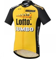 Wholesale Team Lotto Bike Short - 2017 Pro team lotto jumbo cycling jerseys summer Bicycle maillot breathable MTB Short sleeve quick dry bike cloth Ropa Ciclismo