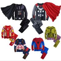 Wholesale Christmas Pajamas For Boys - Boy Pajamas Sets Cartoon Theme Toddlers Boy Pajamas Top and Bottom Cotton Long Sleeves Autumn Boys Clothing Set for Sale