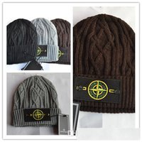 Wholesale Snow Hats - Wool hat knitted hat, winter snow ski hot island St Cap occasional skull caps for men and women