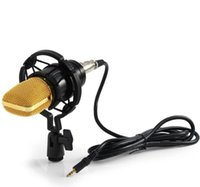 Wholesale Directional Condenser - High quality BM-700 Professional Uni-directional Condenser Studio Sound Recording Microphone with Shock Mount and Anti-wind Foam Cap