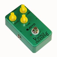Wholesale Mooer Guitar - JOYO JF-01 Electric Bass Guitar Effect Pedal Vintage Overdrive DC 9V True Bypass Dynamic Compression+MOOER PC-S pedal connector