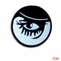 hierros anaranjados al por mayor-nueva llegada Clockwork Orange Alex Eye Eyeball Patch apliques Hierro bordado en Rockabilly