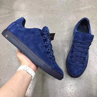 Wholesale Top Quality Leather Dress Shoe - Top Quality Brand Low Top Sneakers Shoes Suede Leather Arena Trainers Women,Men Party Dress,Lover Design With BOX 36-46