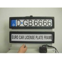 Wholesale License Plate Anti - Free shipping Auto black steel Licence Plate Frame front and rear two pcs a set license plate frame Stealth Remote car Privacy Cover