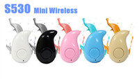 S530 Mini Wireless Pequeno fone de ouvido Bluetooth Estéreo Light Stealth Headphone Headphone Earbud Com Mic Ultra-small Oculto Com caixa