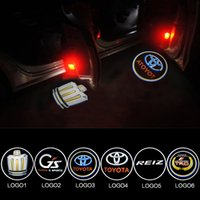 ingrosso interno della macchina della striscia rossa-2x LED Car Door Logo Light Per TOYOTA land cruiber200 Sequoia Prius Reiz Prado Ghost Shadow Proiettore laser di cortesia Welcome Lamp