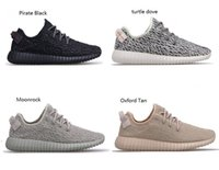 Wholesale Womens Oxfords Lace Ups - Womens Mens kanye west boost 350 in Turtle Dove,Pirate Black,Moonrock,Oxford tan, 350 boost kanye west shoes for sale 36-47
