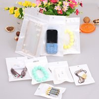Wholesale Packaging Bags Plastic Case - Best Quality Clear+white pearl Plastic Poly OPP packing bags zipper Zip lock Retail Phone Case Jewelry food Package bag 8cm-26cm many sizes