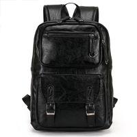 Wholesale Mochilas Style Vintage - 2017 Male Leather Backpack Men travel Backpacks Mochila Masculina Black Men's Bookbag laptop backpack Mochilas Para Hombre