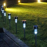 Wholesale Led Festival Decorative - Lawn lamp Solar Lights LED Corridor Tubular Lamp Lawn Light Outdoor Waterproof Colorful Lighting Plastic Garden Festival Decorations DHL