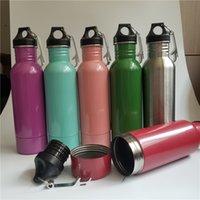 Wholesale Pc Sport Bottles - Beer Bottle Armour Koozie Keeper Stainless Steel Beer Sports Bottles Insulator With Bottle Opener 30 Pcs