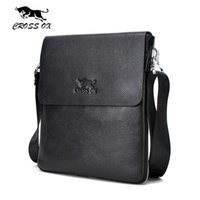 Wholesale Leather Ipad Messenger - Wholesale- CROSS OX 2016 Summer New Arrival Genuine Leather Men's Messenger Bag Shoulder Bags For Men iPad Bag Casual Cross Body Bag SL365M