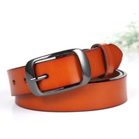 Moda Womens Simple Vintage 30mm Wide Leather Belts For Women With Alloy Pin Buckle 10 cores Selecione