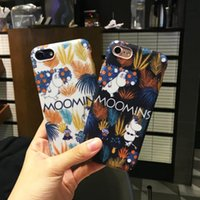 Wholesale Wholesale Designer Cell Phone Cases - Designer Cartoon Cell Phone Cases for iphone 7 6S 6 Fashion Cute Moomins Hippo Mobile Phone Covers
