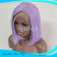 Wholesale Black Purple Short Wig - Heat Resistant Synthetic Cosplay Wig Natural Short Brown Purple Bob Natural As Real Hair Wig Synthetic Female Women Sexy Pelucas