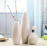 Wholesale Small Ceramic Vases - 2017 Ceramic small vase ornaments creative simple home decorate a set of three pieces free shipping