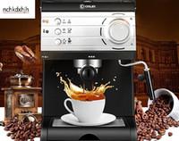 kaffee espressomaschinen großhandel-Donlim Haushalts Espresso Kaffeemaschine halbautomatische itian Hochdruckpumpe Stream Cafe Maker 20bar 1.5L Milchschaum 110-220-240v