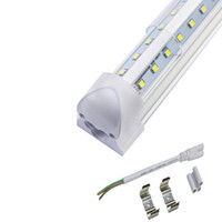 Wholesale High Brightness White Led - 4ft 5f 6ft 8ft T8 v shape led cooler tube light 2835 high brightness Integrated Led Tubes Double Sides Led Fluorescent Lights UL
