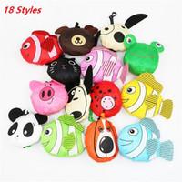 arı tatlı toptan satış-Sıcak satış 18 stilleri Yeni Sevimli Faydalı Hayvan Arı Panda Domuz Köpek Tavşan Katlanabilir Eko Kullanımlık çanta Alışveriş Çantaları A0136