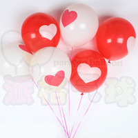 Wholesale Inflatable Hearts - 100pcs lot 2.8g love heart printed latex balloons Romantic wedding Valentine's Day decoration supplies inflatable balloon