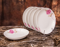 Wholesale 8 inch ceramic plate home round dish deep dish microwave oven dedicated
