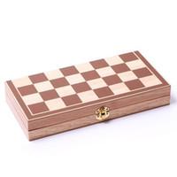 xadrez dobrável venda por atacado-Moda New Engraçado Folding Folable De Madeira Jogo De Tabuleiro De Xadrez Internacional Jogo Engraçado Esportes Entretenimento Entretenimento venda quente frete grátis