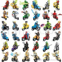 Wholesale Wholesale Ninja Motorcycle - 108pcs Mix Order Minifig with Motorcycle Super Heroes Figures Nexo Knights Motorcycles Ninja Chima Mini Building Blocks Figures Toy