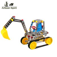 Wholesale Enlighten Girls - Wholesale-Free shipping Metal Model Building Kits Puzzle Excavator Enlighten Education Assemblage DIY Toys 3d metal model boy girl gift