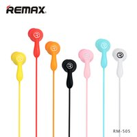Wholesale Portable Units - Portable Media Player REMAX Candy Colors Wired In-Ear Earphone High fidelit Unit Headset Silica Gel Smoothly Earbuds with Mic for phones