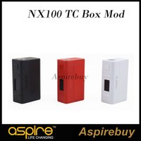 Wholesale Aspire Cell - Aspire NX100 100W TC Box Mod Powered by Single 26650 or 18650 Cell 0.9inch TFT Screen Customizable Firing Button Profiles Multi-Protection