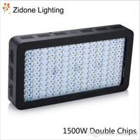 schwarzlichtspektrum großhandel-1500W Schwarz Double Chips LED wachsen helles volles Spektrum 410-730nm für Zimmerpflanzen und Blumen-Phrase sehr hohe Erträge