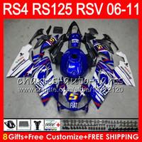 Wholesale aprilia rs4 125 fairing for sale - Group buy Body For Aprilia RS4 RSV125 RS125 RS125R RS HM18 TOP Blue white RSV RS Fairing