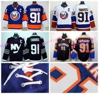 Wholesale Fashions New York - New York Islanders 91 John Tavares Jersey Ice Hockey Sports Fashion Man Team Color Blue Black Premier Alternate White All Embroider Logos
